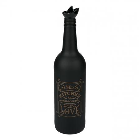 Sticlă pentru ulei,negru-mat.750 ml0