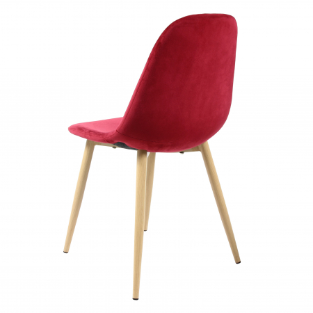 Scaun tapițat roșu2