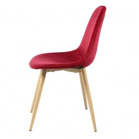 Scaun tapițat roșu1