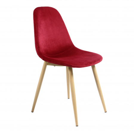 Scaun tapițat roșu0