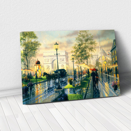 Tablou Canvas - Romantic walk0
