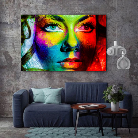 Tablou Canvas - Colorful face2