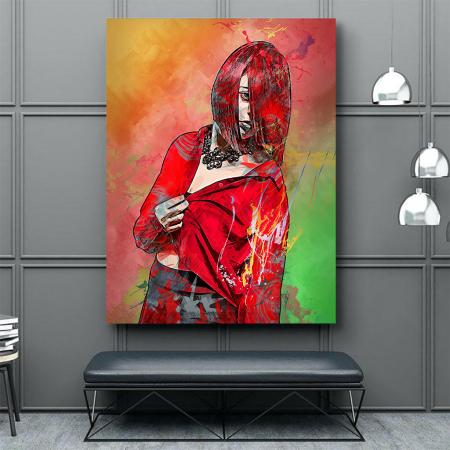 Tablou Canvas - Red fashion2