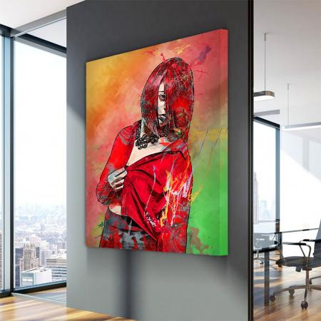 Tablou Canvas - Red fashion3
