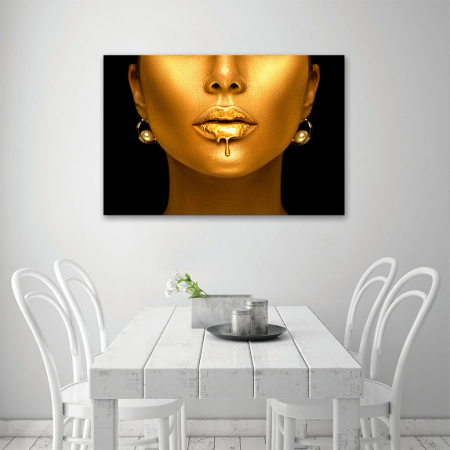 Tablou Canvas - Golden face3