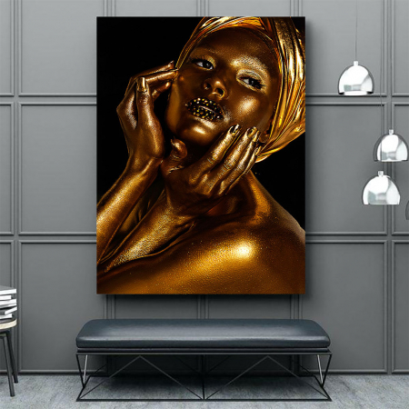 Tablou Canvas - African Gold I1