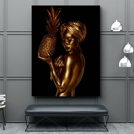 Tablou Canvas - African Gold 21