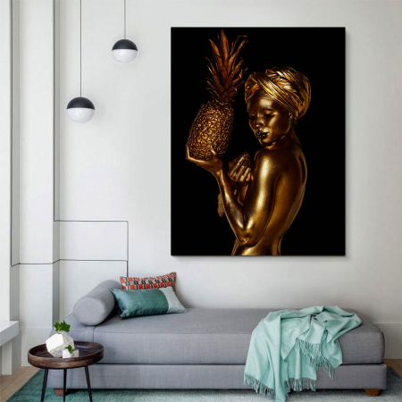 Tablou Canvas - African Gold 23