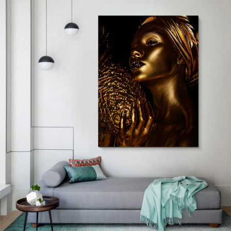 Tablou Canvas - African Gold 33