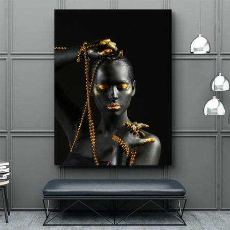Tablou Canvas - Gold in new style3