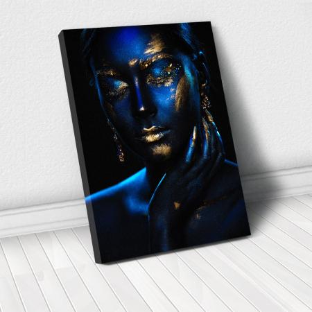 Tablou Canvas - Blue & Gold [0]
