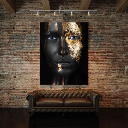 Tablou Canvas - Golden face style [2]