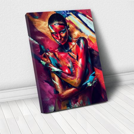 Tablou Canvas - Paint stripes sensual [0]