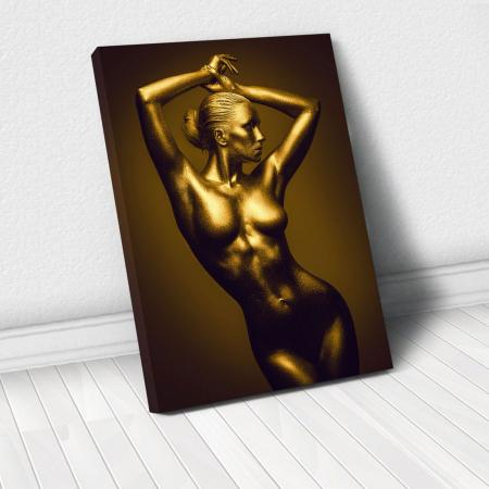 Tablou Canvas - Golden Nude Pose 5 [0]