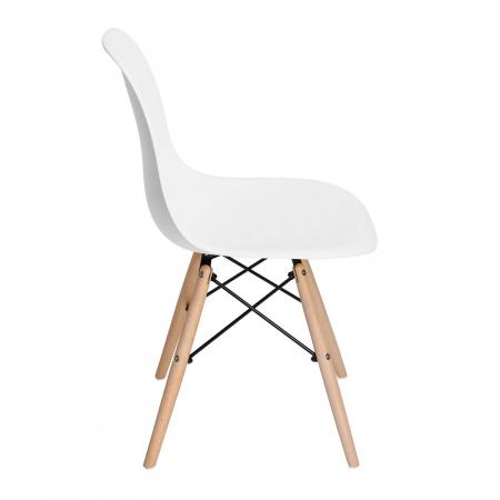 Scaun din lemn natur alb [1]