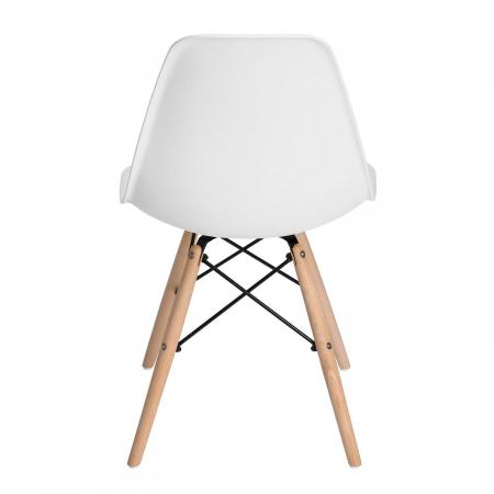 Scaun din lemn natur alb [3]