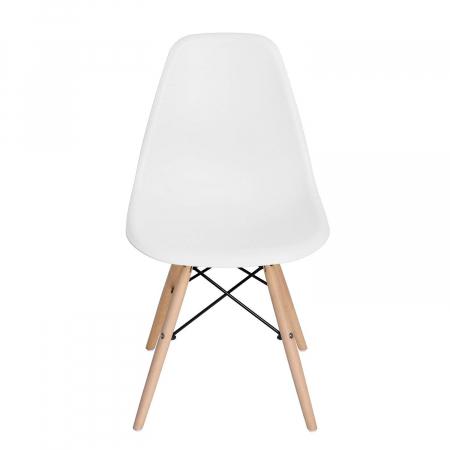 Scaun din lemn natur alb [4]