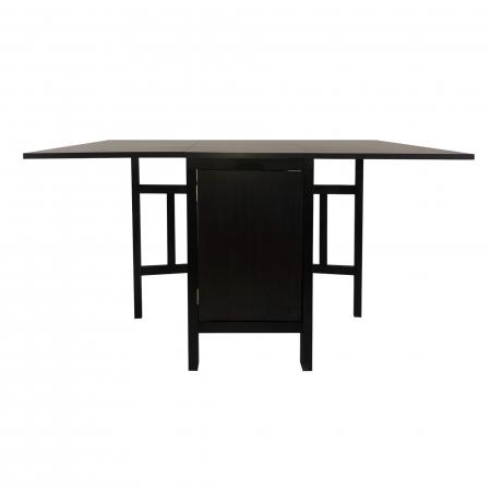 Set masă pliantă cu 4 scaune de bucătărie,wenge [1]