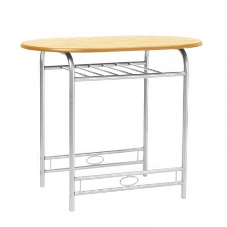 Set masă ovală fixă cu 2 scaune, bucatarie, fag, 1C2