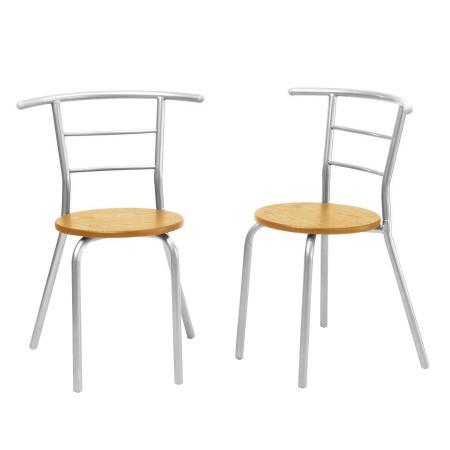 Set masă ovală fixă cu 2 scaune, bucatarie, fag, 1C3