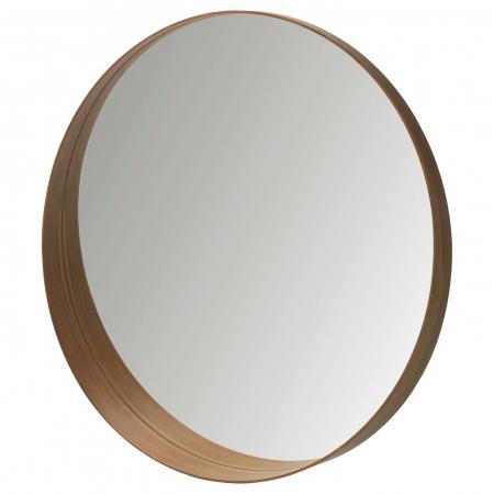 Oglindă rotunda, furnir nuc 63 cm1