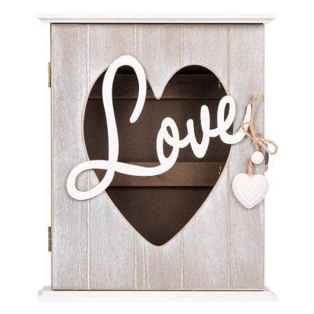 """Suport din lemn pentru chei """"LOVE"""" - 22x7x26.5cm0"""