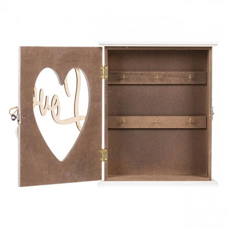 """Suport din lemn pentru chei """"LOVE"""" - 22x7x26.5cm1"""