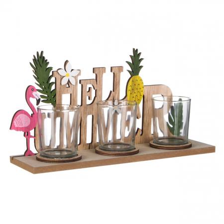 "Suport lumânări ""Hello Summer""28x8x14 cm [1]"