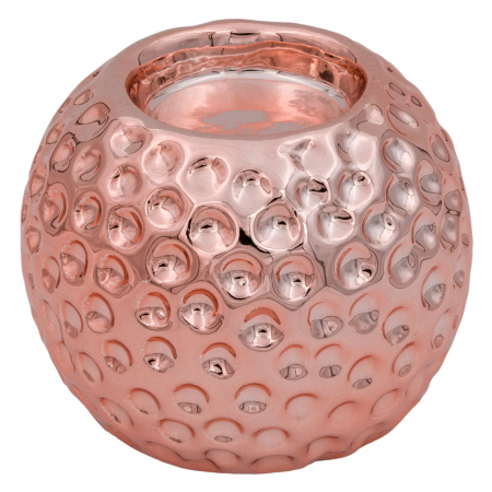 Suport din porțelan pentru lumânare,cercuri,8.5x7 cm [0]