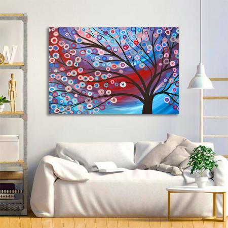 Tablou Canvas - Copac inflorit minimalist [1]