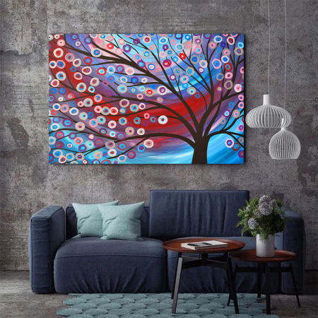 Tablou Canvas - Copac inflorit minimalist [2]
