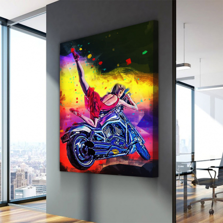 Tablou Canvas - Moto girl3