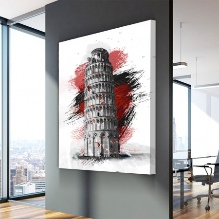 Tablou Canvas - Turnul din pisa3