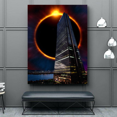 Tablou Canvas - Skyline eclipse3