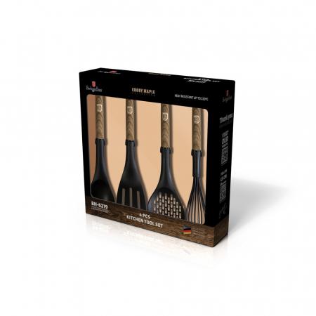 Ustensile pentru gatit, Berlinger Haus, nylon, negru, finisaj lemn natur, set 4 piese [1]