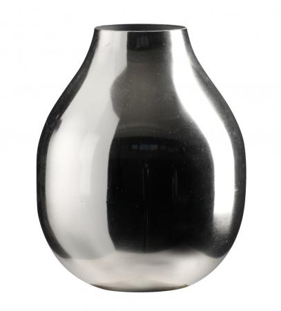 Vază decorativă din metal, argintie 12x15cm [0]