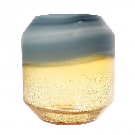 Vază din sticlă, auriu-cenușiu, 22cm0