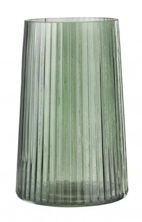 Vază decorativă din sticlă, verde 13x20cm [0]