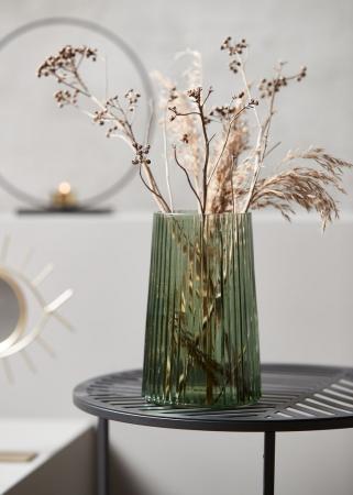 Vază decorativă din sticlă, verde 13x20cm [1]