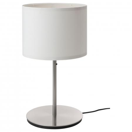 Veioză Dora, albă, cu bază metalică - 41cm0