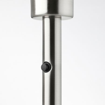 Veioză Dora, albă, cu bază metalică - 56cm4