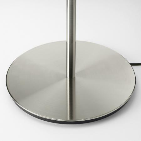 Veioză Dora, albă, cu bază metalică - 41cm5