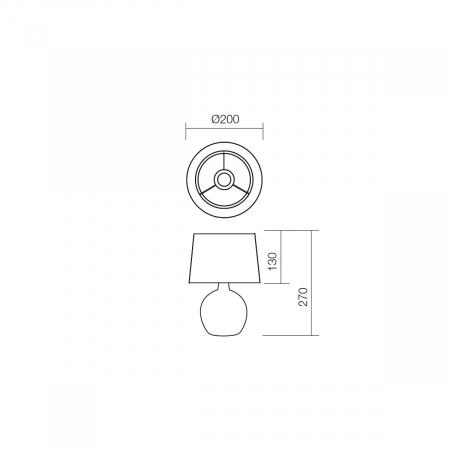 Veioză Home, 1 x E14, bej + alb1
