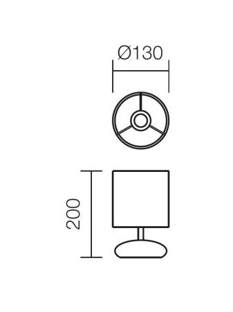 Veioză Delo, 1 x E14, albă [2]