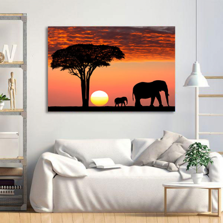 Tablou Canvas - African Sunset1