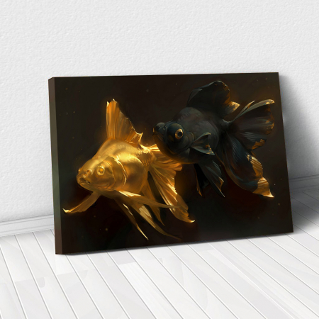 Tablou Canvas - Black & Gold Fish0