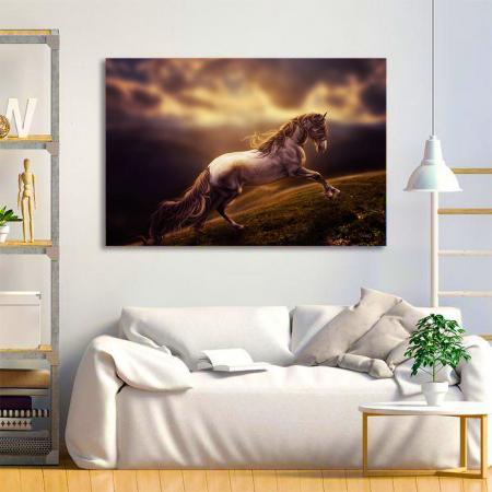 Tablou Canvas - Running horse [3]