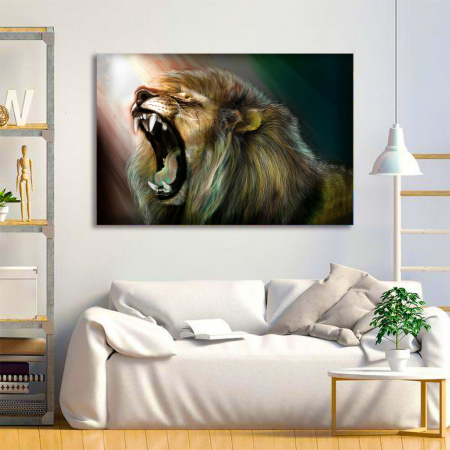 Tablou Canvas -Lion roar3
