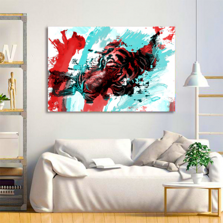 Tablou Canvas - Tiger splash3