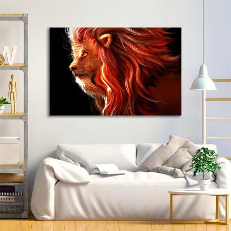 Tablou Canvas - Lion creativ1